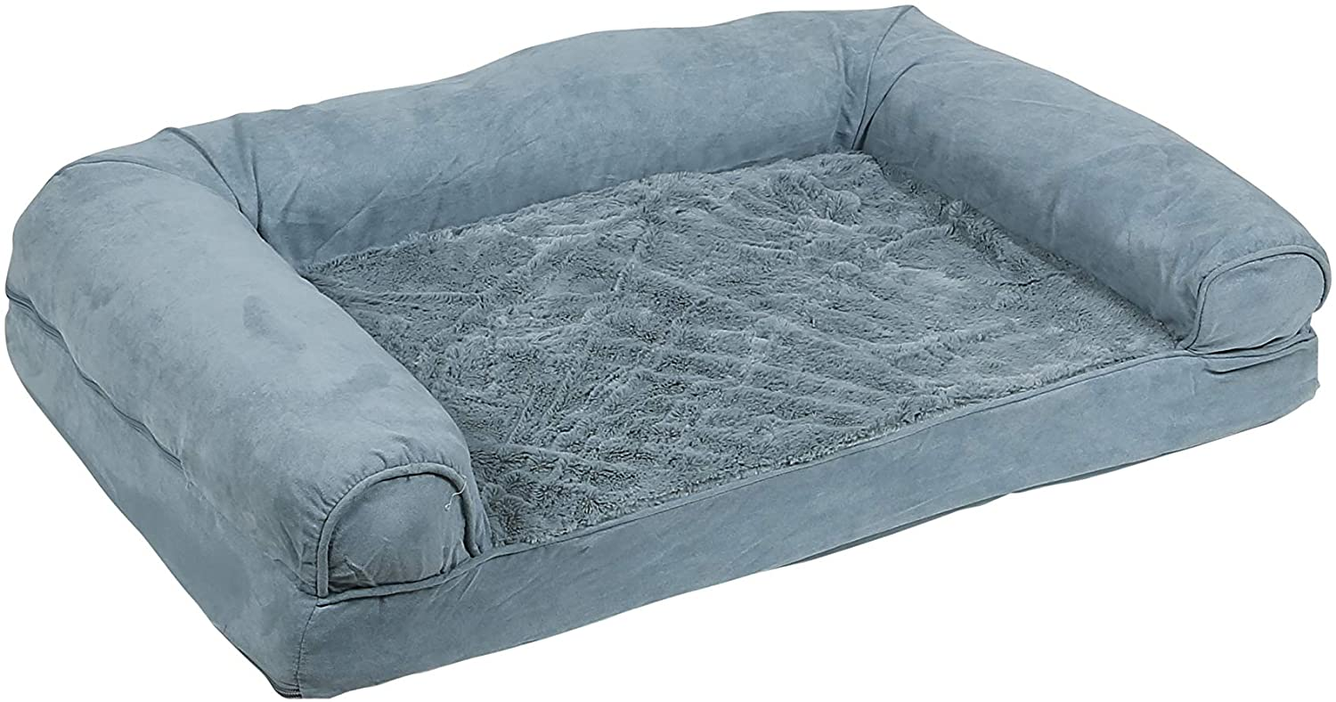 grey couch style dog bed to help your dog regulate its temperature